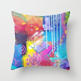 Vivid Thoughts 2 Throw Pillow