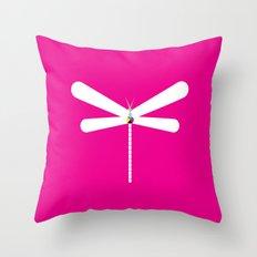 LibelluleMonde Magenta Branding Throw Pillow