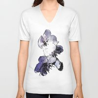 cherry blossoms V-neck T-shirts featuring CHERRY BLOSSOMS. by capricorn