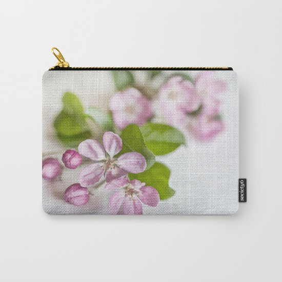 delicate pink Apple Blossom close up Carry-All Pouch