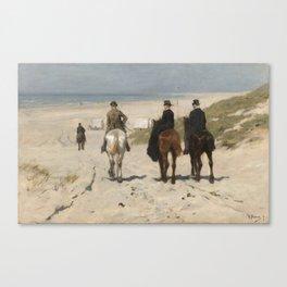 Anton Mauve - Morning Ride along the Beach(Scheveningen) (1876) Canvas Print