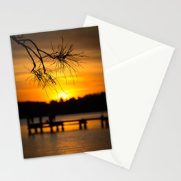 Belmont, Green Point, Australia Jetty at Sunset (Portrait) Stationery Cards