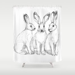 Three Hares sk131 Shower Curtain