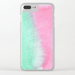 green red watercolopiece Clear iPhone Case