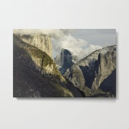 Fresh Snow On Half Dome 1-19-2018 Metal Print