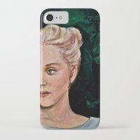 sylvia plath iPhone & iPod Cases featuring Sylvia by alison dillon art