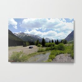 Following the Upper Animas River on the Alpine Loop toward Silverton Metal Print