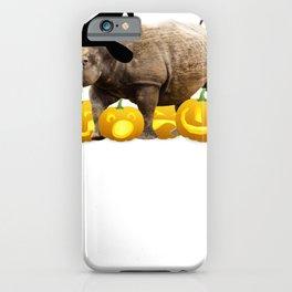 Halloween Rhino Witch Hat Jackolanterns iPhone Case