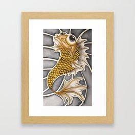 Baby Koi Fish Framed Art Print