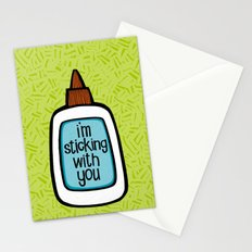 sticking with you Stationery Cards