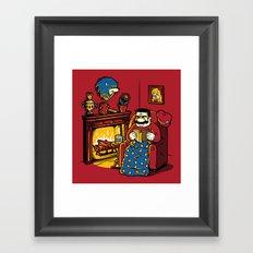 A Quiet Evening at Home Framed Art Print