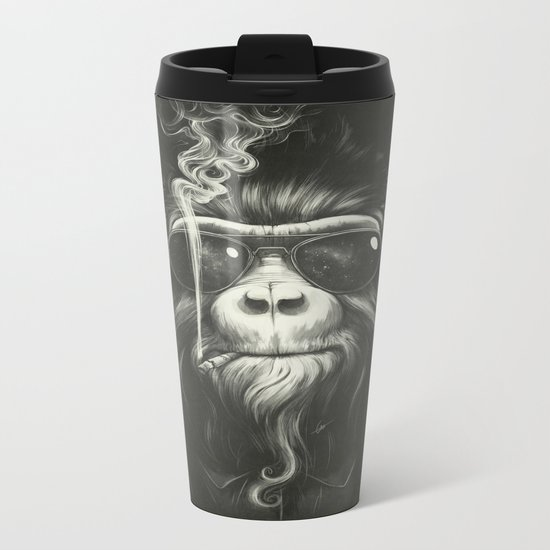 Smoke 'Em If You Got 'Em Metal Travel Mug