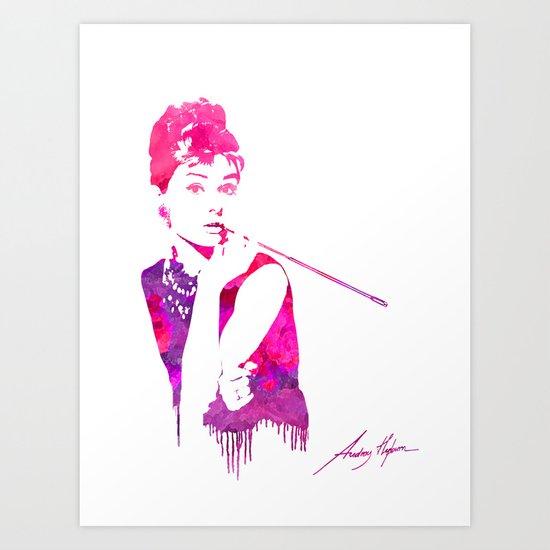 Audrey Stencil Art Print