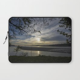 Sunset on a river Laptop Sleeve