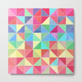 Rainbow Prisms Metal Print
