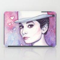 hepburn iPad Cases featuring Audrey Hepburn by Olechka