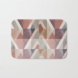 Textured Geometric Abstract Bath Mat