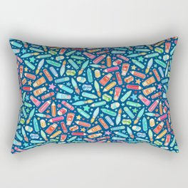 Rainbow Stationary and Art Supplies - blue Rectangular Pillow