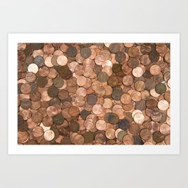 Pennies for your thoughts Art Print