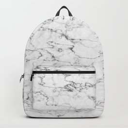 Marble White and Gray Texture Abstract Art Backpack