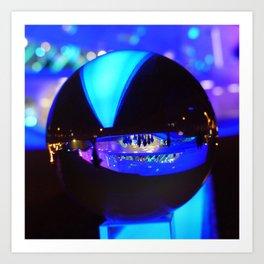 Through the crystal ball / Glass Ball Photography Art Print
