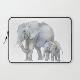 Mother and Baby Elephants Laptop Sleeve