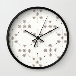 Floral Constellation (XL) Wall Clock