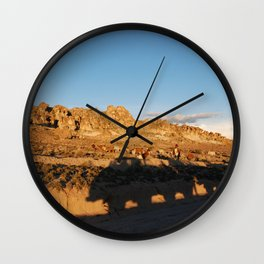 Sunset with shades and lamas Wall Clock