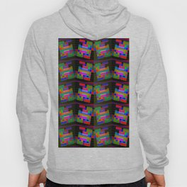 Colored-H-pattern Hoody