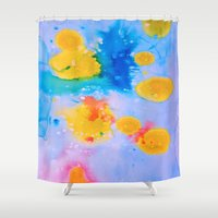 science Shower Curtains featuring Science Experiment by DuckyB