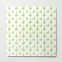Four Leaf Clover Lucky Charm Metal Print