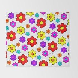 Pop Flowers Throw Blanket