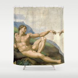 Michelangelo - Creation of Adam Shower Curtain