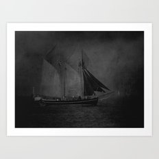 Traditional sails Art Print