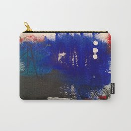 Blue is the New Black original painting by Stacey Brown Carry-All Pouch
