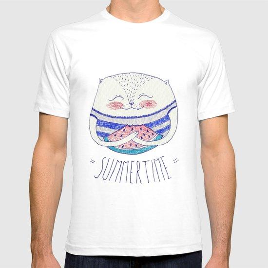 summertime cat T-shirt