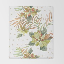 tropical summer Throw Blanket