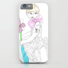 Girl with big bow Slim Case iPhone 6s