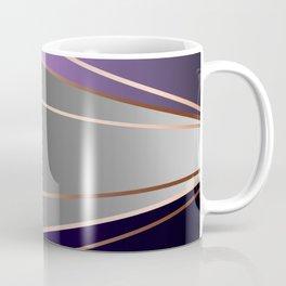 Purple, gray, black, dark blue. Coffee Mug
