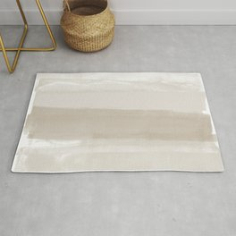 Beige Ombre Minimalist Abstract Painting Rug