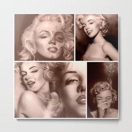 Marilyn Collage Metal Print