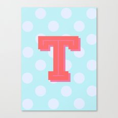T is for Terrific Canvas Print
