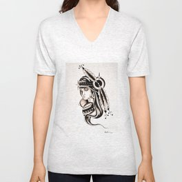 New Kg Art abstract Unisex V-Neck