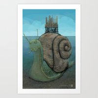 The City and the Snail Art Print