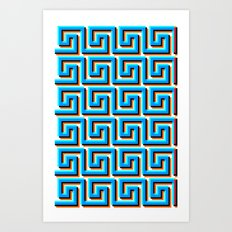 Pixel Wave no.2 Art Print