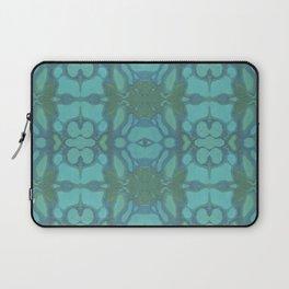 Evergreen and Aqua Nouveau Pattern Laptop Sleeve