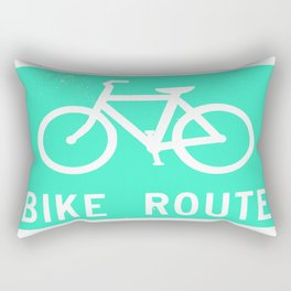 Bike Route Rectangular Pillow
