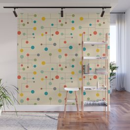 Mid-Century Dots Pattern Wall Mural