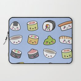 Happy kawaii sushi pattern Laptop Sleeve