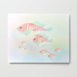 Fish Family Metal Print